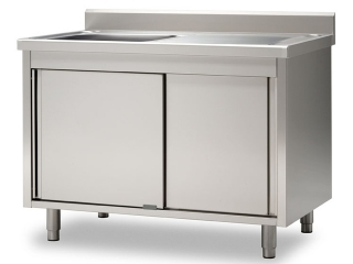 Laveries sur meubles & Lave mains inox